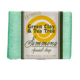 Green Clay/Tea Tree Simmons Natural Bar Soap 4oz