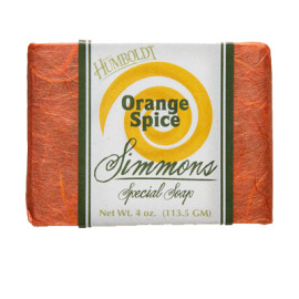 Orange Spice Simmons Natural Bar Soap 4oz