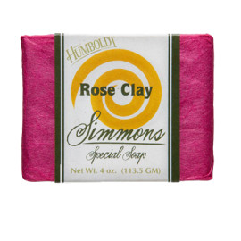 Rose Clay Simmons Natural Bar Soap 4oz