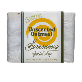 Unscented with Oatmeal Simmons Natural Bar Soap 4 oz